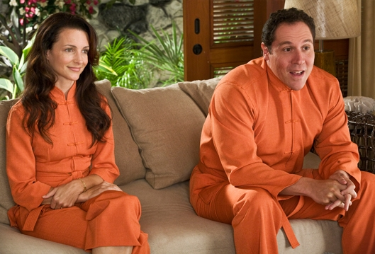 The Asian-inspired prison jumpsuits are a reminder: this movie is torture.