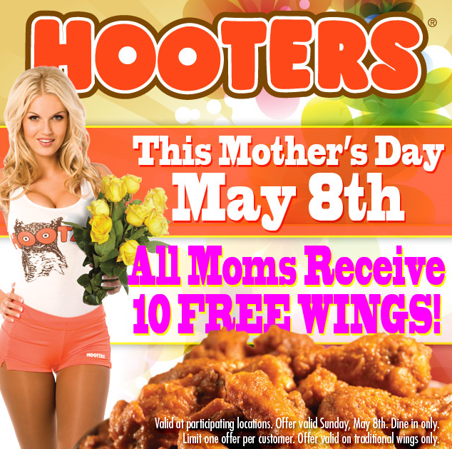 Hooters Free Food Mothers Day