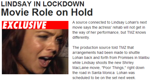 Lindsay Lohan, about to yell at and/or vomit on someone.