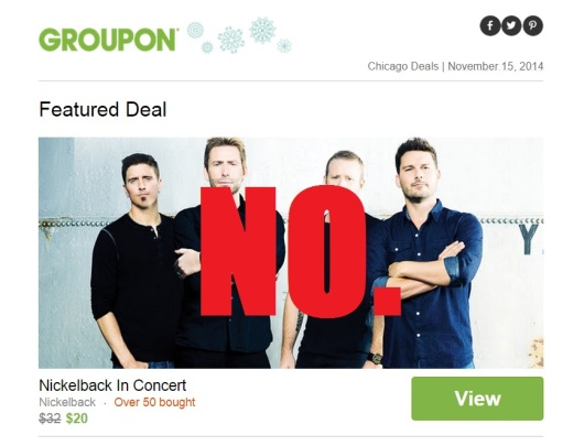 nickelback groupon