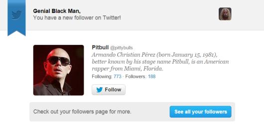 pitbull fake twitter